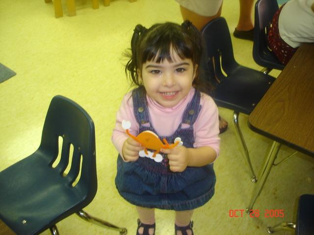 Dalia's first day of pre-school
