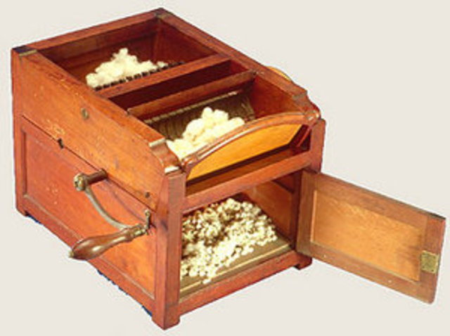 Eli Whitney Invents the Cotton Gin. (S)