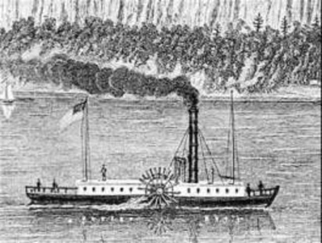 Robert Fulton Develops Steamboat Engine. (S)