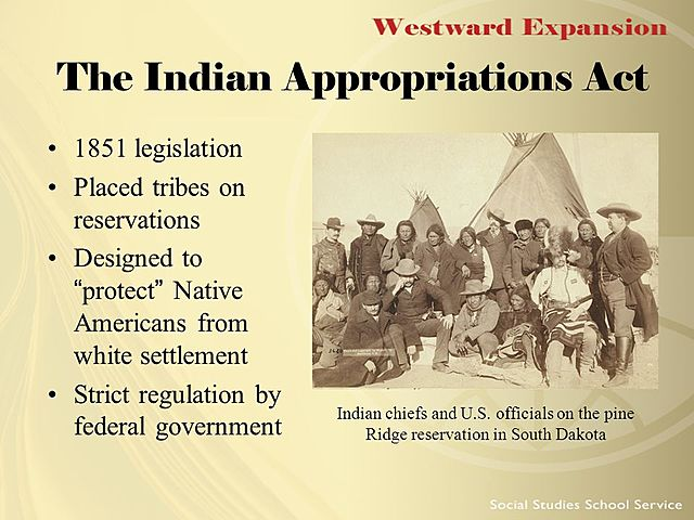 Indian Appropriation Act (Native Americans)