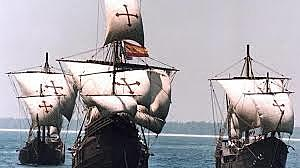 """La expedición parte del Puerto de Palos hacia """"Las Indias""""."""