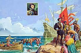 Llegada de Hernán Cortes a Mexico.