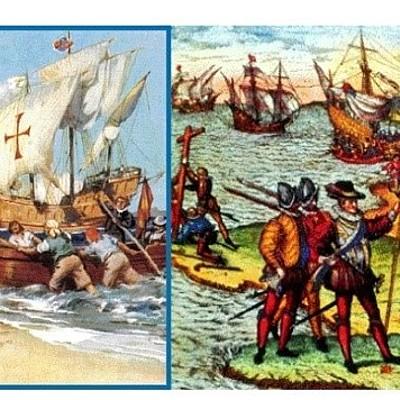 Descubrimiento de América y la Conquista de México. timeline