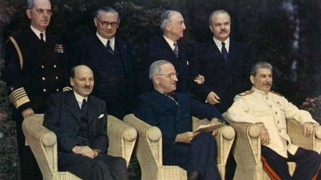 Planned for end of WW2 (Potsdam Conference)