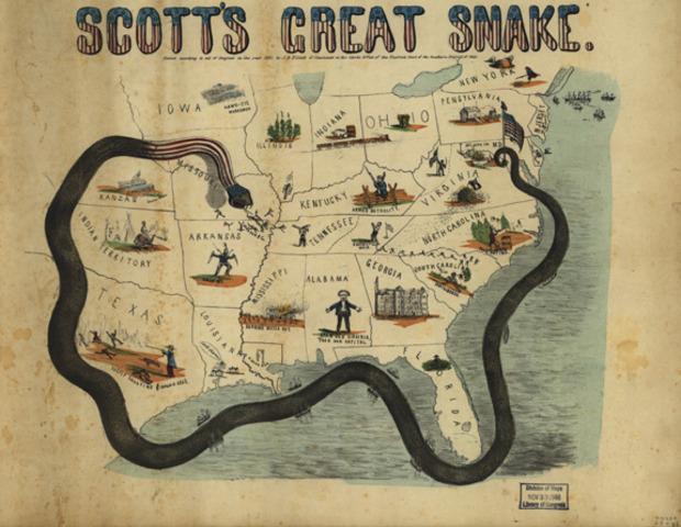 Anaconda Plan Established