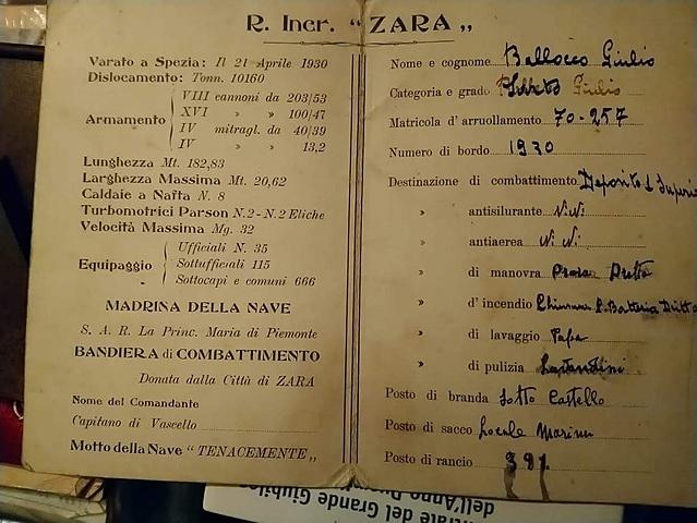 R. Incrociatore Zara