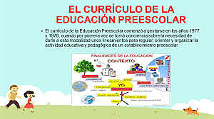currículo de la Educación Preescolar
