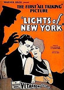 """Primera pel·lícula completament parlada """"Lights of New York"""""""