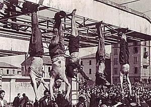 Fusilamiento de Benito Mussolini