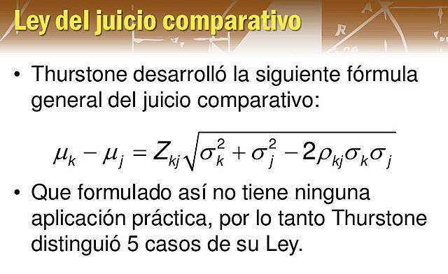 Ley del Juicio Comparativo