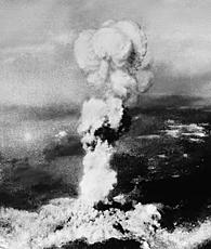 Enola Gay drops Little Boy on Hiroshima