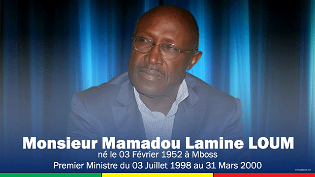 Mamadou Lamine Loum (3 juillet 1998 - 31 mars 2000)