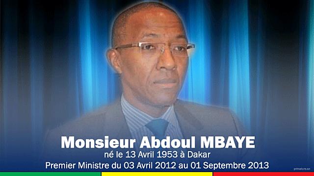 Abdoul Mbaye (3 avril 2012 - 1 septembre 2013)