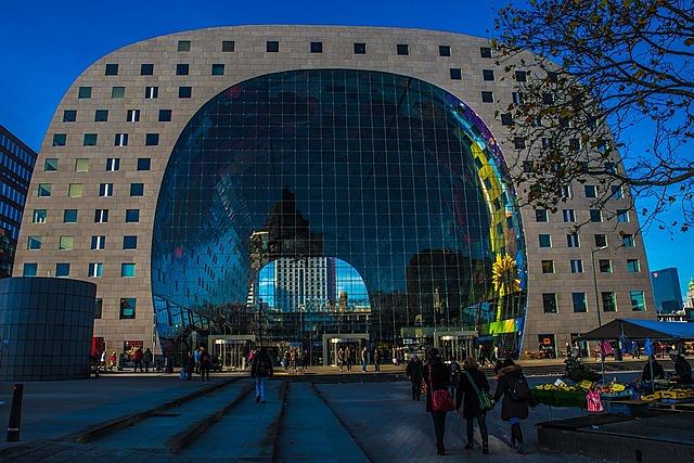 Markthal Rotterdam, ontworpen door Winy Maas