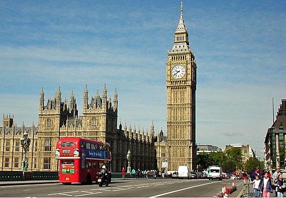 Big Ben London, ontworpen door Charles Berry