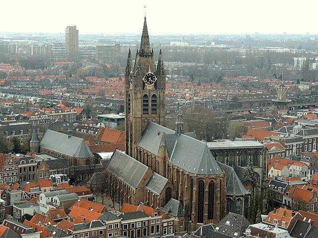 Oude Kerk in Delft, ontworpen door Bartholomeus van Bassen