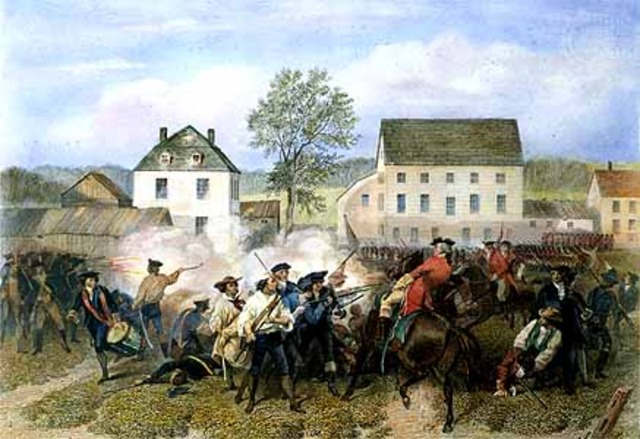 The First Shots Fired at Lexington and Concord