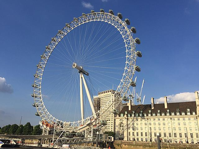 London Eye, ontworpen door Julia Barfield