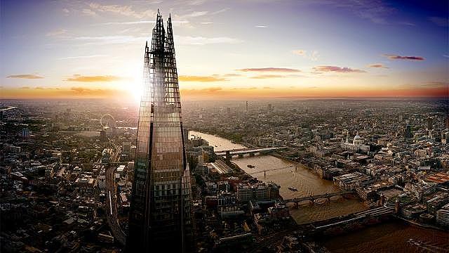 The Shard in London, ontworpen door Renzo Piano