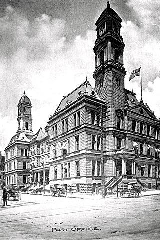 U.S. Post Office (now Mercantile Building) completed