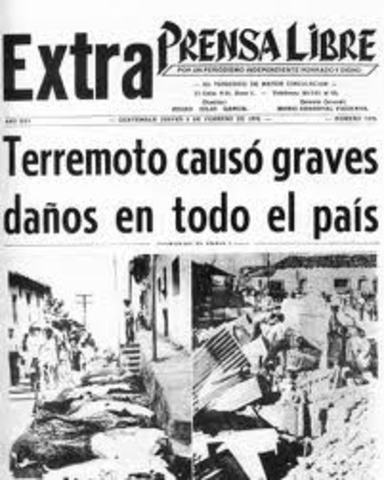 Terremoto en Guatemala