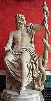 Mito de Esculapio (deidad de Asclepio para los griegos)