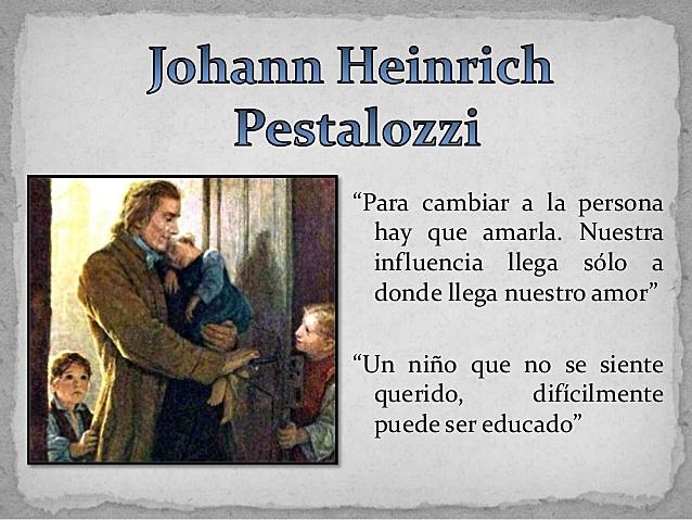 Pestalozzi - Siglo XIX - Pedagogía Moderna