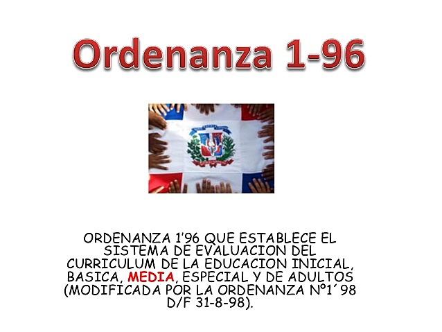 Ordenanza 01-196