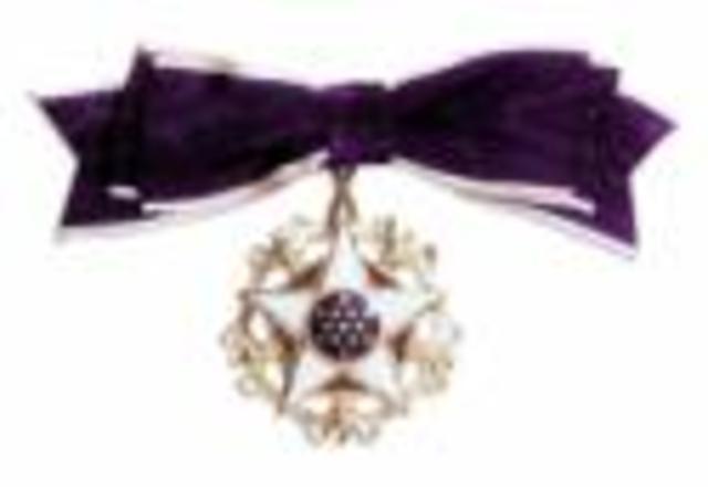 Helen receives the Presidential Medal of Freedom, the nation's highest civilian award, from President Lyndon Baines Johnson
