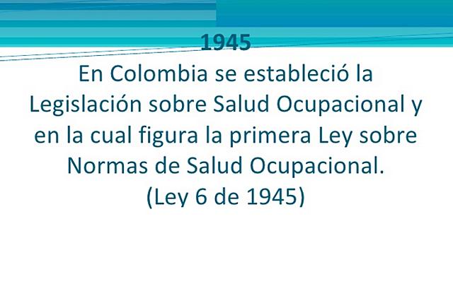 Ley 6 de 1945 Ley general del trabajo.