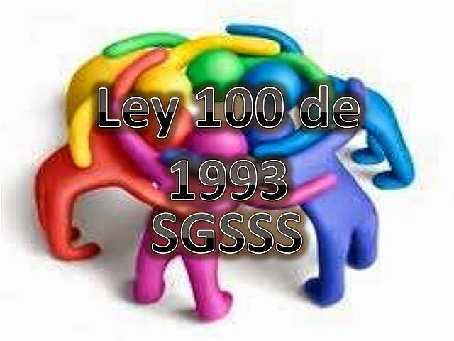 Ley 100 1993 Sistema General de Riesgos Profesionales