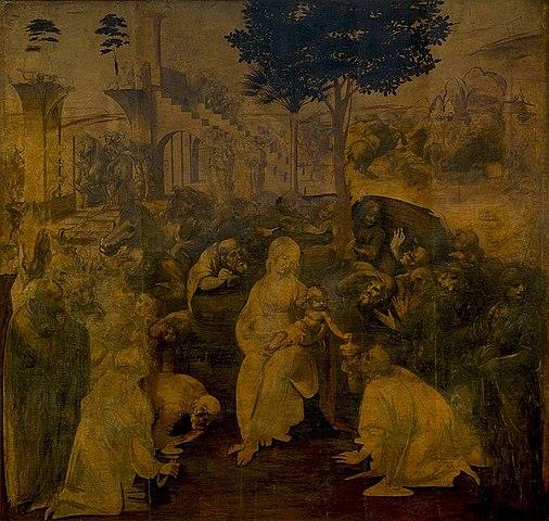 Adoration of the Magi by Leonardo da Vinci