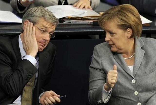 Kanzlerin bringt Umweltminister Röttgen mit nach Lünen