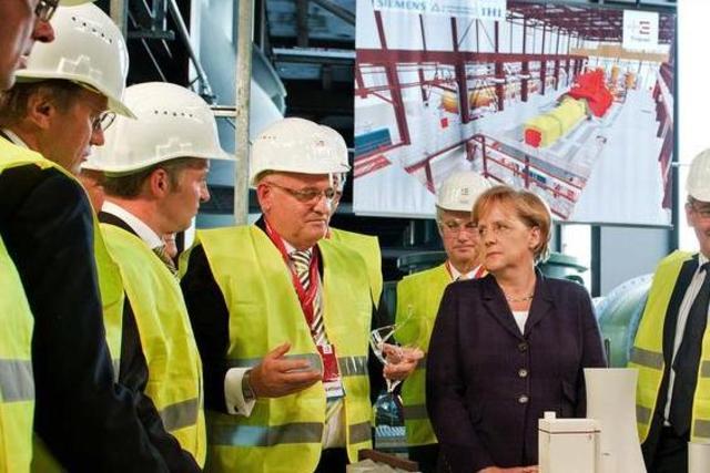 Eine Stunde Programm für Angela Merkel