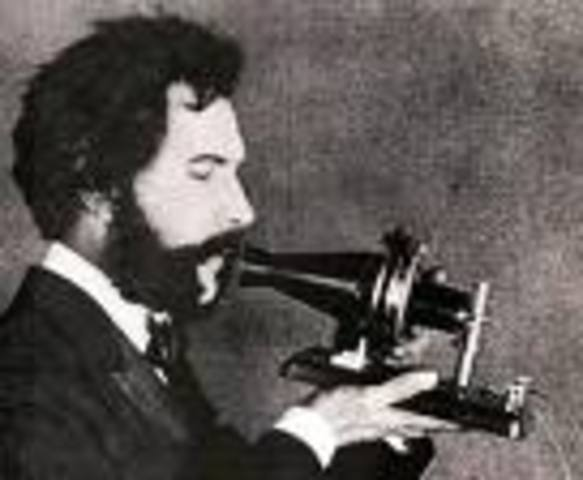 in 1876,he invented the first telephone