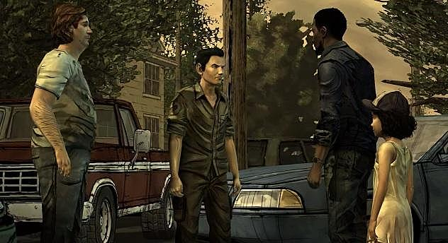 Lee and Clementine leave during the day.