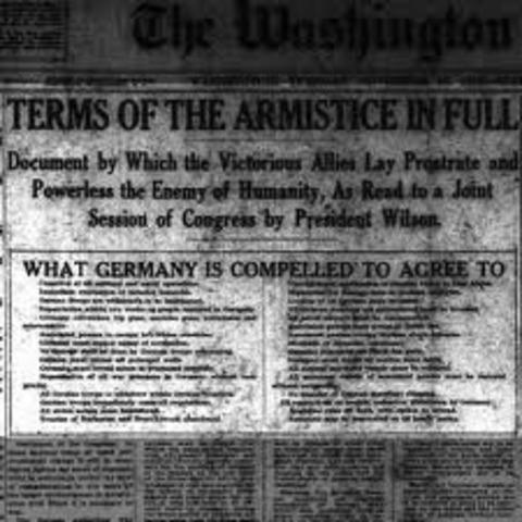 Germany surrenders/ Armistic signed
