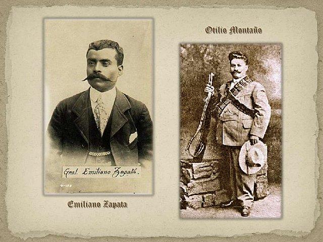 Emiliano Zapato y Otilio Montaño rompieron con el trato con Francisco I Madero considerándolo traidor a la revolución