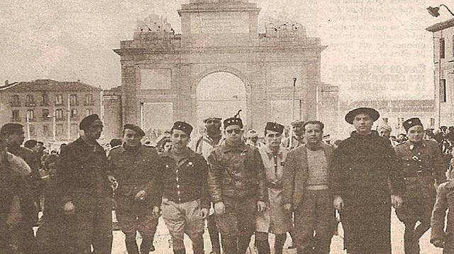 El día 28 entran las tropas franquistas en Madrid.