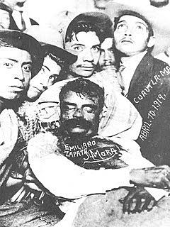 Zapata asesinado en la hacienda de Chinameca