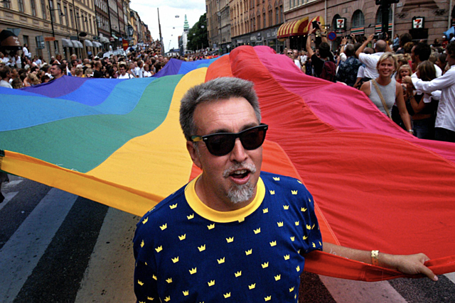 The First Rainbow Flag is designed and made.