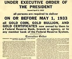 FDR stops the run on gold