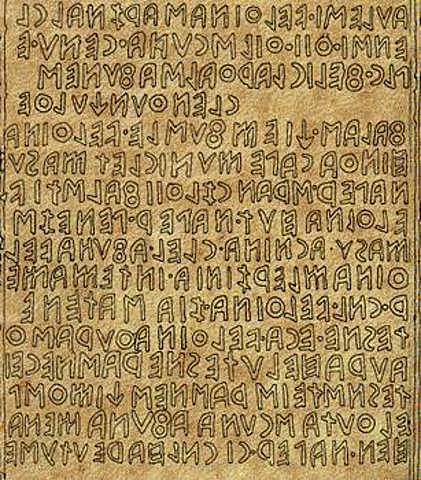 Inscripciones Etruscas