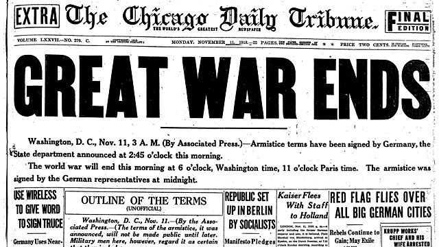 WWI Ends