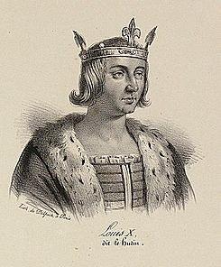 Luis I de Navarra y X de Francia de la dinastía de los Capeto (inicio del reinado)