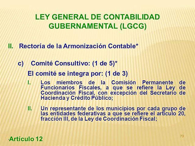 Dirección General de Contabilidad Gubernamental.