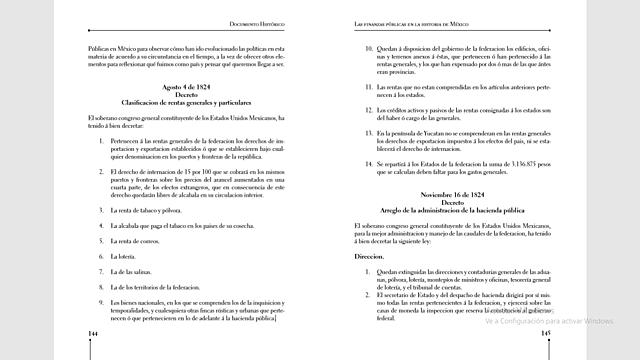 Decreto Clasificación de rentas generales y particulares.