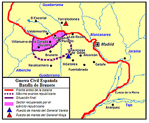 (Julio 1937) Derrota republicana en la batalla de Brunete.