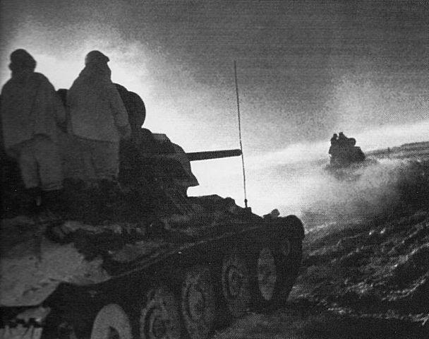 L'esercito sovietico avanza : Tedeschi scnfitti