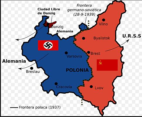 Invasione della Polonia.Inizia della Seconda Guerra Mondiale